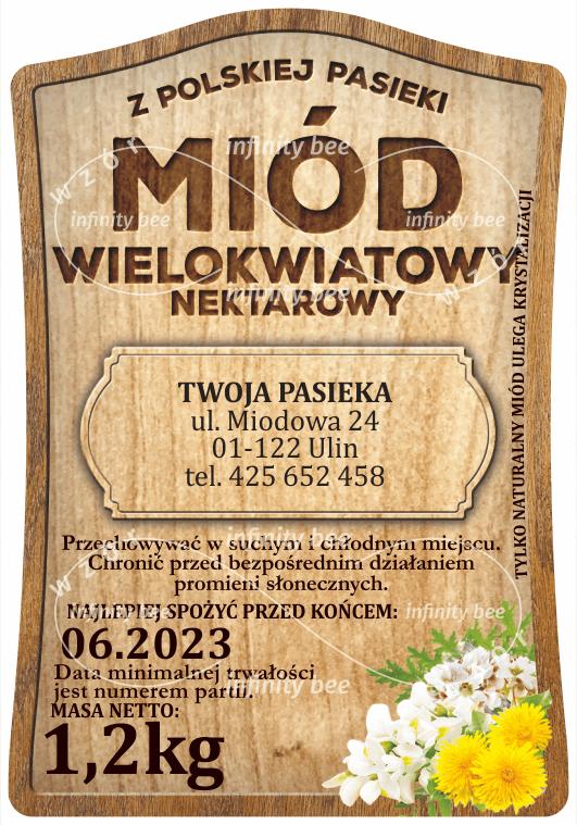Etykiety na miód akacjowy